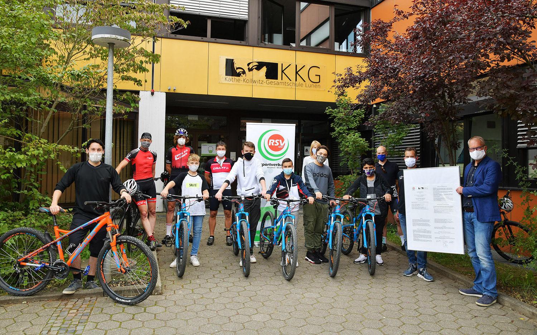 Der Radsportverband NRW kooperiert zusammen mit den Vereinen aus Lünen, Unna, Waltrop und Werne mit der Käthe-Kollwitz-Gesamtschule.